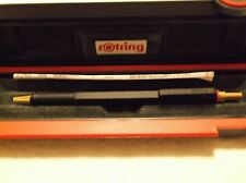 ROTRING 600 GOLD 0.5 PENCIL GOLD & BLACK NEW IN BOX RETRACTS COMPLETELY 46598