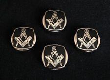 Masonic Cloisonne Button Cover Set (4MBC-BKG)