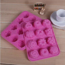 Silicone Flowers Muffin Sweet Chocolate Candy Jelly fondant Cake Mold Baking Pan