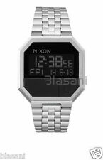 Nixon Original Re-Run A158-000 Silver/Black Stainless Steel 38.5mm Watch