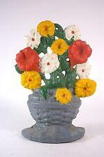 Cast Iron Doorstop Basket of Flowers Bouquet