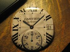 Cartier Automatic Wrist Watch Face  Repurposed Advertisement Pocket Mirror