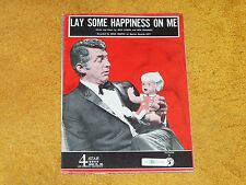 Dean Martin sheet music Lay Some Happiness on Me 1966 3 pages (VG+ shape)