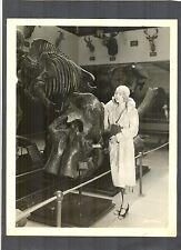 SEXY SILENT STAR ANITA PAGE WITH DINOSAUR SKELETON IN MUSEUM - GREAT PHOTO