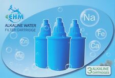 EHM 3 PC Alkaline Pitcher Filter Replacement Cartridge EHM Mineral Water Ionizer