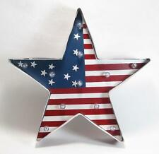 Patriotic LED Lighted Star with Stars and Stripes