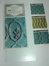 Pre punzonati PATTERN Card Set per Knitting Machine ribbers PUNCH Felpe modelli