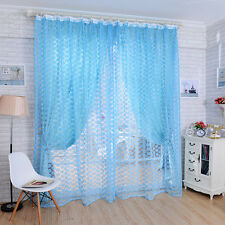 Striking Rose Tulle Window Screens Door Balcony Curtain Panel Sheer Gardinen
