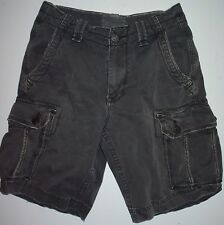 Mens 29 Actual 30 American Eagle AEO Classic Fit Cargo Shorts Washed out Black