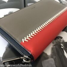 Coach Men's Fog Baseball Leather Accordion Zip Around Wallet Clutch 75223 NWT