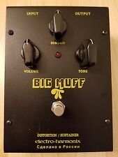 Electro-harmonix Russian Big Muff Pi Distortion Black Guitar Pedal Sustainer