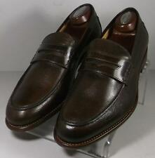 241310 FTi60 Men's Shoes Size 10 Made In Italy Brown Slip-Ons Johnston Murphy