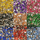1000X 2MM - 6MM RESIN BEADS FLAT BACK RHINESTONES 14 FACETS NAIL ART CRAFTS