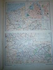 Carte  géographique Année 1914 Département du Nord