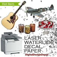 *10 sheets Premium laser waterslide decal paper CLEAR