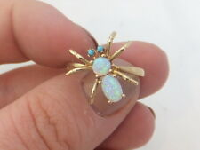 Fine Victorian style novelty opal type spider 15ct gold ring 15k 625