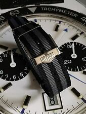20mm TAG Heuer Buckle & NATO ® Strap Black Grey Bond