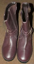New, Fiona Zip Biker OX Blood Boots in Drak Brown by John Lewis size A6 RRP £40