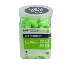 Flents Quiet Contour Comfort Foam Earplugs Nrr 33dB (50 Pair) Hearing Protection
