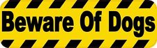 10″ x 3″ Beware of Dogs Warning Sign Bumper Sticker Decal Window Stickers Decals