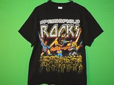 2005 The Simpsons Springfield Rocks Men's Size L Large Homer Rock T Shirt