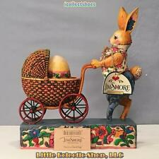 Jim Shore Heartwood 4001851 BUNNY PUSHING EGG IN STROLLER Resin Easter Figurine