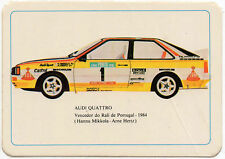 1985 Portugese Pocket Calendar Featuring Audi Quattro Rally Car