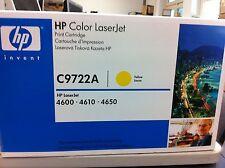 HP Original Cartouche D'encre C9722A 22 A pour LJ 4600 4650 yellow B nouveau