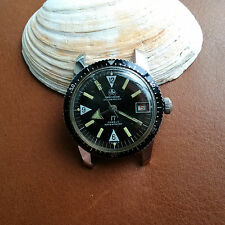 Vintage Ollech and Wajs 20 ATM Diver/Diving Watch w/Warm Patina,Red Date,EB 8021