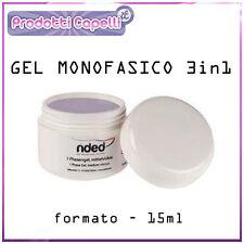 GEL MONOFASE 3in1 MONOFASICO 15ML RICOSTRUZIONE UNGHIE KIT UV LAMPADA FORNETTO