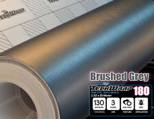 Brushed Metal GREY Aluminium 750x1520 mm Vinyl Carbon Wrap Film Car Sticker