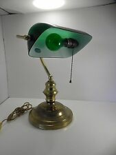 Vintage Emeralite Green Shade Bankers Desk Lamp