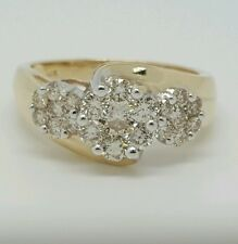 1 Ct Excellent Cut Round Champagne Color Diamond 10k Yellow Gold Wedding Ring