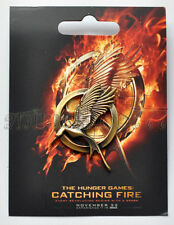 NEW CATCHING FIRE MOCKINGJAY BIRD PIN BADGE ANTIQUE BRONZE LOOK THE HUNGER GAMES