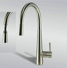 """16"""" Pull Out Swivel Spout Kitchen Sink Faucet  Tap Mixer Brushed Nickel  TDYMND"""