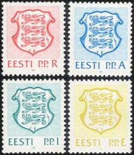 Estonia 1992 State Arms/Lions/Coats-of-Arms/Heraldry/Animals 4v set (ee1071)