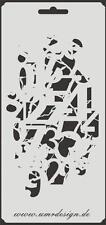 Scrapbooking Schablone S-166  Zahlen vintage ~ Stencil ~ UMR-Design