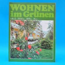 DDR Wohnen im Grünen 1/1981 Verlag für die Frau L Kromlau Leipzig Pflanzschalen