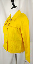 NWT-Women's Size M Lemon Yellow Two Pocket Gun Flap Style Spring Jacket Blazer