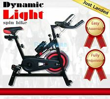 NEW HEAVY DUTY COMMERCIAL SPIN EXERCISE BIKE PULSE MONITOR HOMEGYM FITNESS
