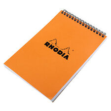 Rhodia No. 16 Top Wirebound Notebook - 5.875 x 8.25, Graph Paper - Orange