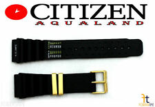 Citizen Aqualand C023-088069 24mm Black Rubber Watch Band C021-087372