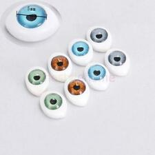 4 Pair 8pcs Oval Hollow Back Plastic Eyes For Doll Mask DIY Making 5mm 4 Colors