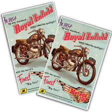 """Two 1954 Royal Enfield Motorcycle Meteor 700 11x17"""" Reproduction Posters"""