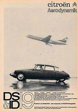 1964 CITROEN DS & ID 19 dea aerodinamica 14x20 cm ORIGINALE pubblicità a mezzo stampa