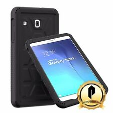 Samsung Galaxy Tab E 9.6 Poetic 【TurtleSkin】 Drop Protection silicone Case Black