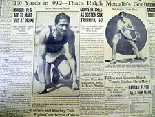 1934 newspaper RALPH METCALF world's fastest human & OLYMPIC rival o JESSE OWENS