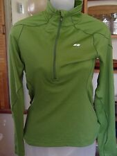 Koppen pullover warm up jacket for women size XS 100% polyester 11 inch zipper.