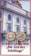 """Österreich 50 Schilling 2001 Bimetall hgh im Blister """"Die Ära des Schillings"""""""