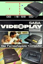 Saba Fairchild Computer inkl.2 Controller und Spiele Zubehörpaket SABA 1977 KULT